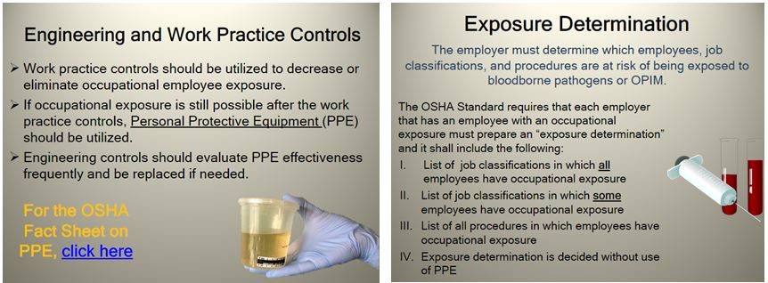 bloodborne pathogens Picture blood borne pathogens training picture OSHA Standard 29 CFR 1910