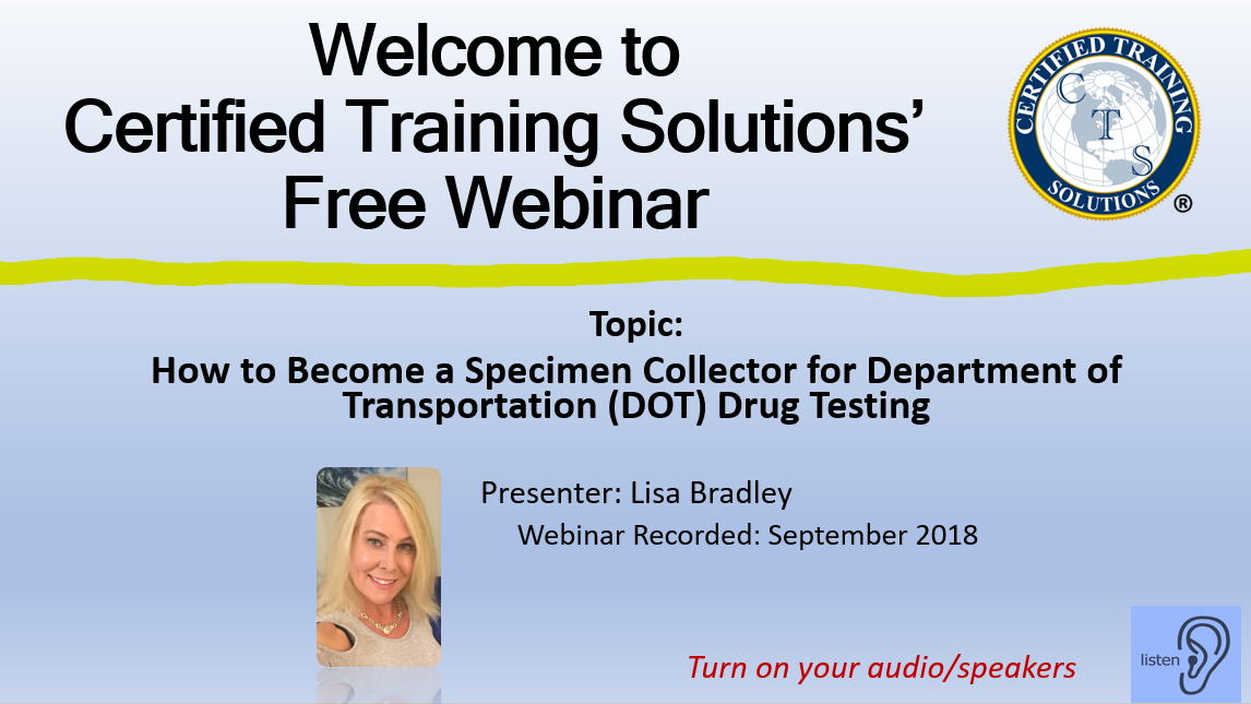 Picture - how to become specimen collector for dot drug testing